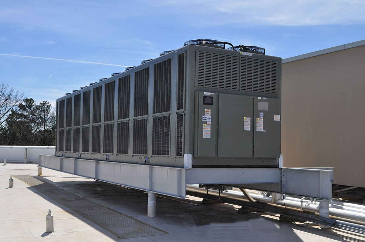 A- Air Cooled Chiller Replacement Commercial Office Building 1